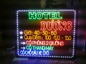 Bảng Led cho khách sạn