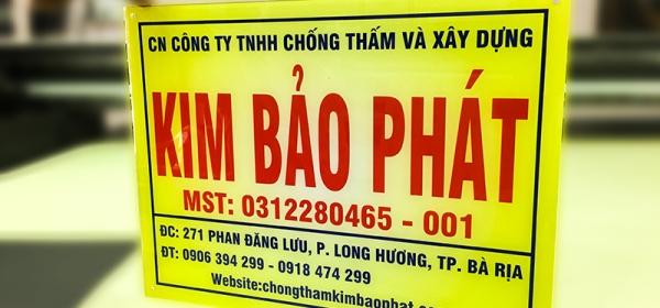 in bảng tên cong ty