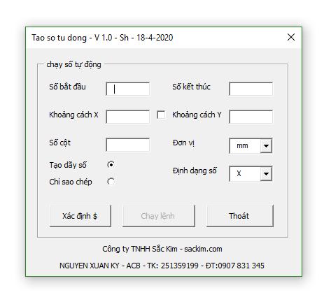 tool chạy số tự động